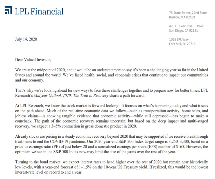 Client Letter | Midyear Outlook 2020 | July 14, 2020